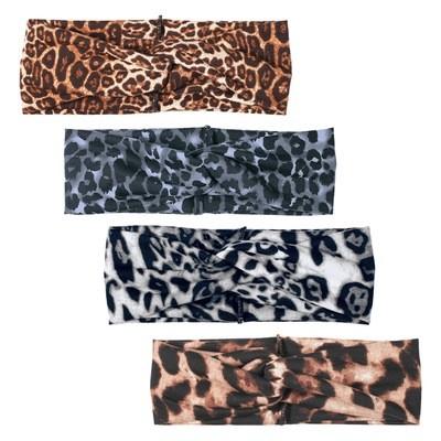 Leopard turban headband