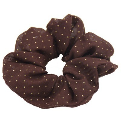 Stud chiffon scrunchies