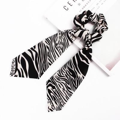 Zebra chiffon scrunchies with scarf