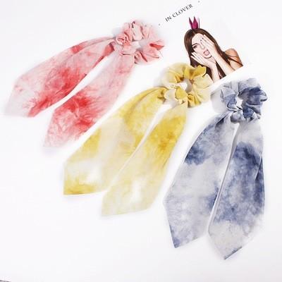 Rainbow chiffon scrunchies with scarf