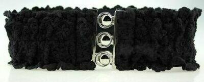 Floral lace stretch belt