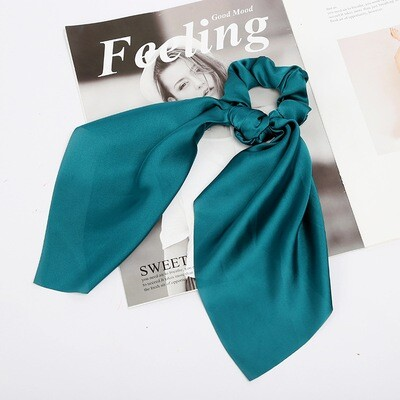 Satin scrunchies with scarf