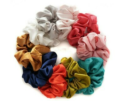 Silky satin scrunchies - 25 pieces