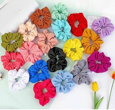 Over-size soft fabric scrunchies - 15cm diameter