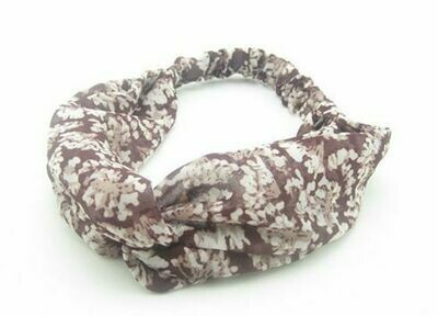 Rust floral turban headband