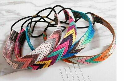 Colourful knit elastic headband