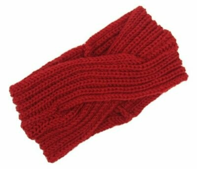 Turban style crochet headband