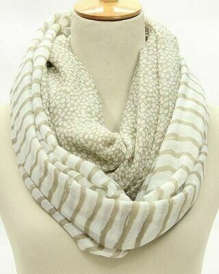 Leopard strips mix infinity scarf