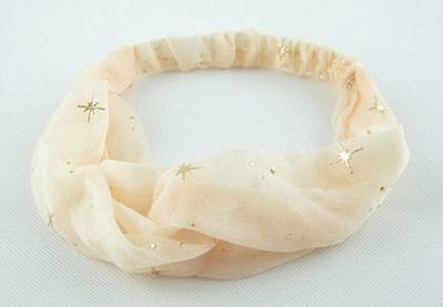 Gold stars chiffon turban headband