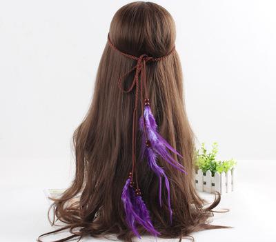 Purple feather tie