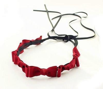 Long-tailed 6x bowknot elastic headband