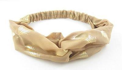 Leaf chiffon turban headband