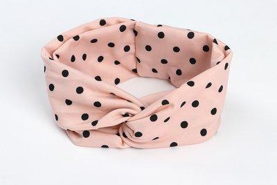 Polka dots stretchy headband