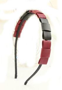 Elegant faux leather bow knot headband