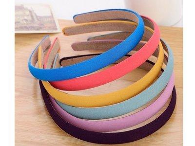 Slim plain colours chiffon headband