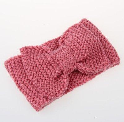 Large bow crochet headband