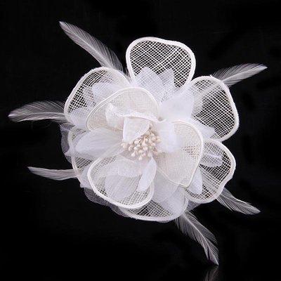 Organza mesh flower hair clip & pin