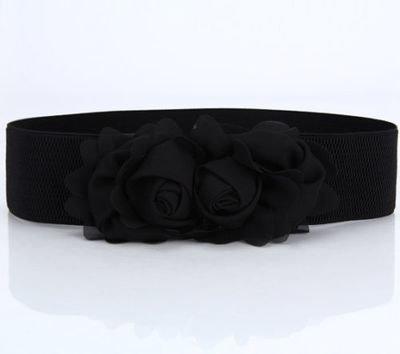 Chiffon flowers stretch belt