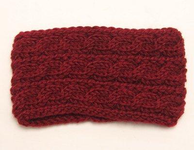 Braided wide crochet headband