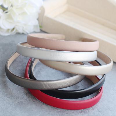 Plain colours slim leather headband