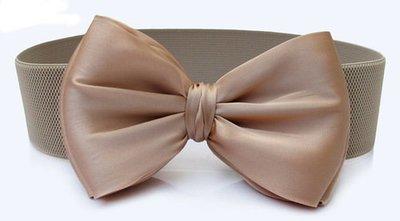 Large bow knot stretch waist belt