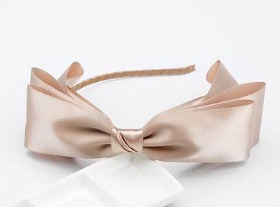 Satin ribbon bowknot headband