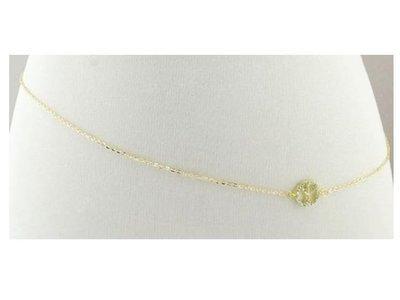 Crystal peace symbol beach belly chain