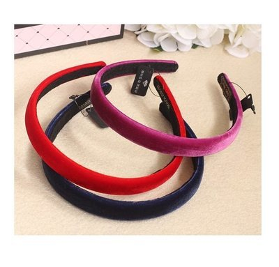 Plain colours slim velvet headband