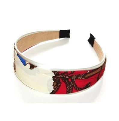 Satin & Printed Chiffon wide headband