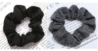 Black & Grey knitting scrunchies pack