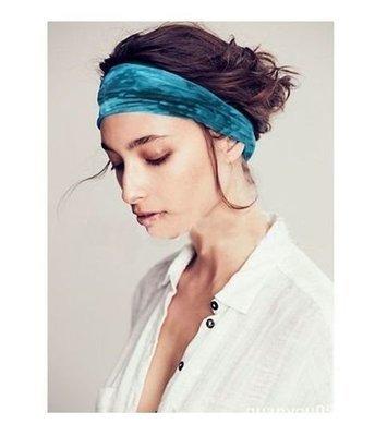 Tie-dye printed soft bandanna headbands