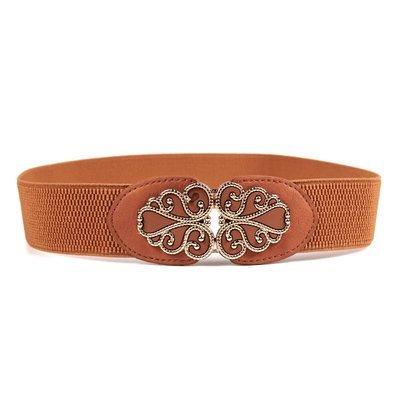 Gold bow stretch belt