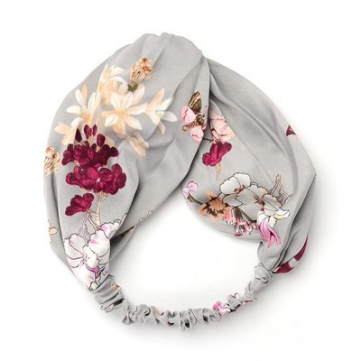 Silk floral turban headband