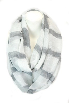Wide strips infinity scarf