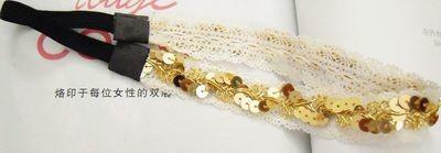 Shiny sequins lace headband