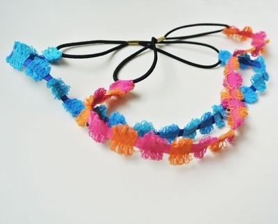 Rainbow-circle elastic headband