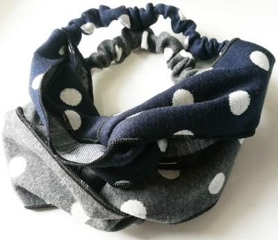 polka dots warm turban headband