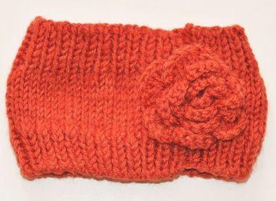 3D flower loop crochet headband