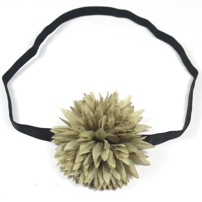 Olive flower bow elastic headband