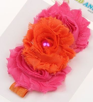 Beautiful cotton flowers baby headband