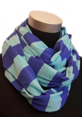 Striped jersey infinity scarf