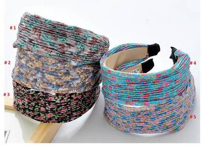 Flowers wide headband
