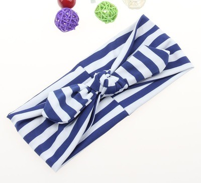 Strips removable bow knot stretch headband