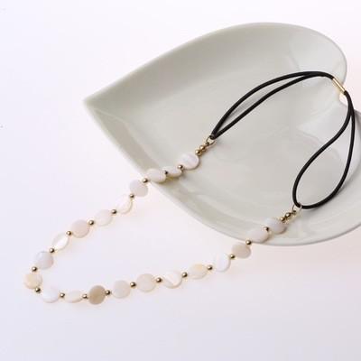 Natural shell beads headband