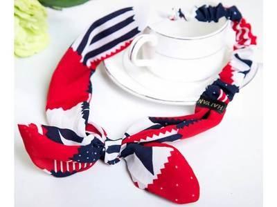 Flag pattern bow knot elastic headband