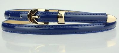Solid colour thin belt