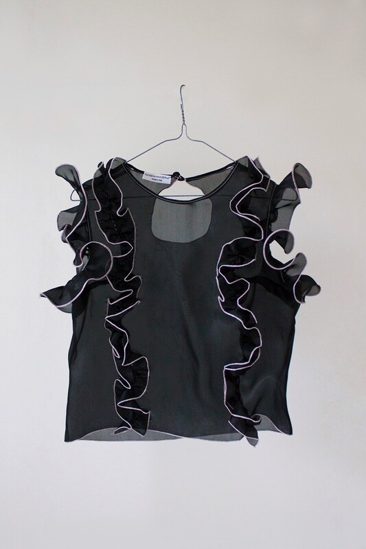 THE LICIA BLOUSE - black licorice + lilac