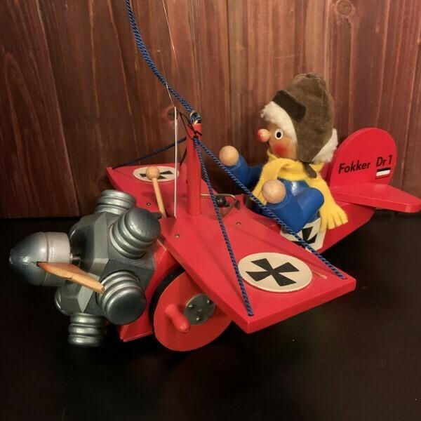 Red  Barron Fokker Music Box & Smoker