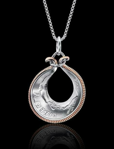 Oyster Shell Dime Necklace