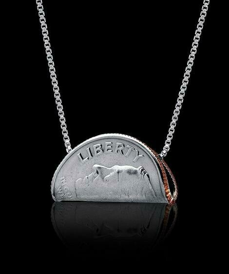 Rolled Dime Necklace